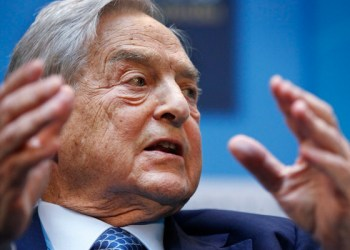 "George Soros, chairman of Soros Fund Management, speaks during a forum ""Charting A New Growth Path for the Euro Zone"" at the IMF/World Bank annual meetings in Washington, Saturday, Sept. 24, 2011. (AP Photo Manuel Balce Ceneta)"