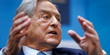 """George Soros, chairman of Soros Fund Management, speaks during a forum """"Charting A New Growth Path for the Euro Zone"""" at the IMF/World Bank annual meetings in Washington, Saturday, Sept. 24, 2011. (AP Photo Manuel Balce Ceneta)"""
