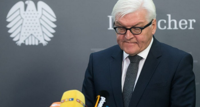epaselect epa05623966 German Minister of ForeignAffairs Frank-Walter Steinmeier delivers a statement on the results of the presidential election in the USA in the German Bundestag in Berlin,Germany, 09 November 2016. US businessman Republican Donald Trump has won the US presidential election. Americans voted on Election Day to choose the 45th President of the United States of America to serve from 2017 through 2020.  EPA/BERNDVONJUTRCZENKA