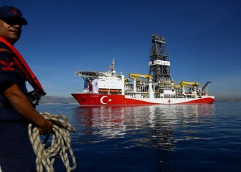 Turkish drilling vessel Fatih is pictured off the Mediterranean resort city of Antalya, Turkey October 30, 2018. REUTERS/Kaan Soyturk