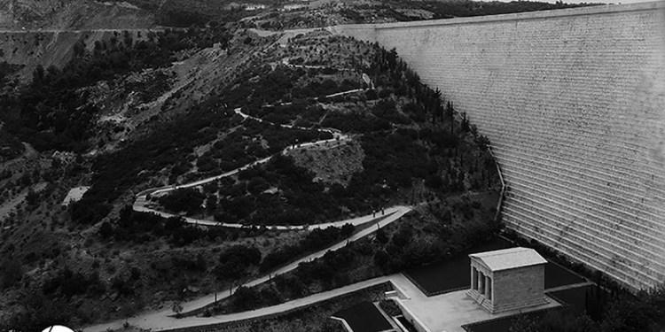Άποψη του Φράγματος Μαραθώνα, π. 1930-1931 Πηγή: Ιστορικό Αρχείο ΕΥΔΑΠ