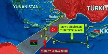 Η ΑΟΖ που διεκδικεί η Τουρκία, Turkish Claimed EEZ