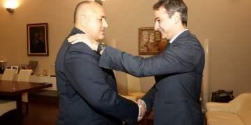 Ο πρόεδρος της Νέας Δημοκρατίας Κυριάκος Μητσοτάκης (Δ), συναντήθηκε με τον πρωθυπουργό της Βουλγαρίας Boyko Borisov (Α) στο πλαίσιο της επίσκεψής του στη Βουλγαρία, Δευτέρα 28 Νοεμβρίου 2016. ΑΠΕ-ΜΠΕ/ΓΡΑΦΕΙΟ ΤΥΠΟΥ ΝΔ/ΔΗΜΗΤΡΗΣ ΠΑΠΑΜΗΤΣΟΣ