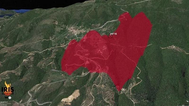 Πυρκαγιές σε Κεχριές και Πεταλίδι – Ενεργοποιήσεις του προγνωστικού συστήματος IRIS 26