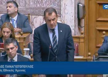 Ο Νίκος Παναγιωτόπουλος στη Βουλή