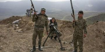 Στρατιώτες στο Ναγκόρνο Καραμπάχ
