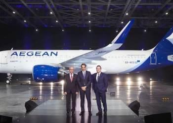 Το Airbus A320neo που παρέλαβε η Aegean