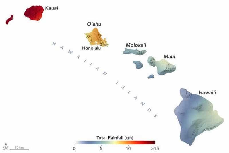 NASA: Η Χαβάη στο έλεος των βροχών