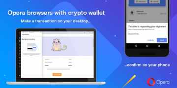 Opera with cryptowallet