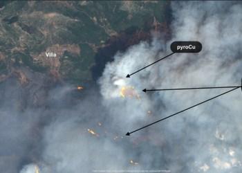 Meteo: Η έκρηξη της φωτιάς στα Βίλια