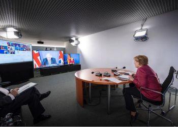 Η Μέρκελ στην τηλεδιάσκεψη των G7
