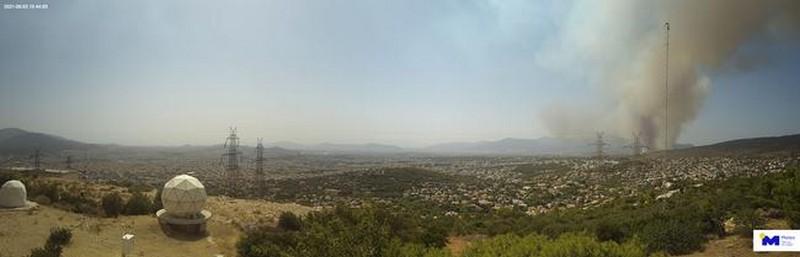 Εικόνα 3: Η διακύμανση της θερμοκρασίας στον μετεωρολογικό σταθμό του Εθνικού Αστεροσκοπείου Αθηνών / meteo.gr στην Πεντέλη.