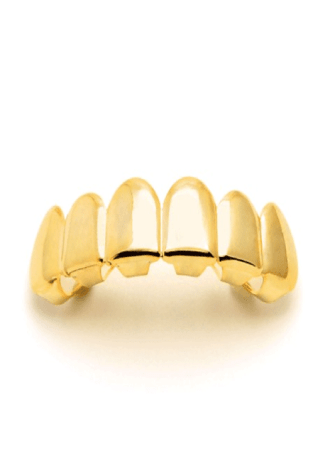 King Ice 14K Gold Plain Bottom Grillz