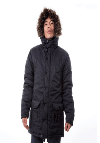 KING APPAREL Noir Parka Jacket