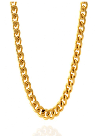 KING ICE 8MM 14K Gold Miami Cuban Curb Chain
