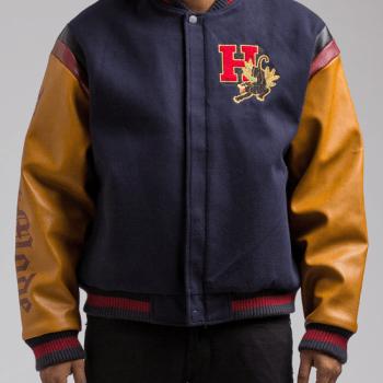 HUDSON Beastmode Varsity Jacket in Navy