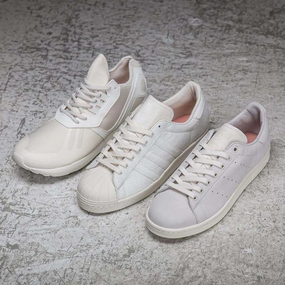 huge discount 3aa0a 1e8a7 adidas Originals x Sneakersnstuff Shades of White Pack