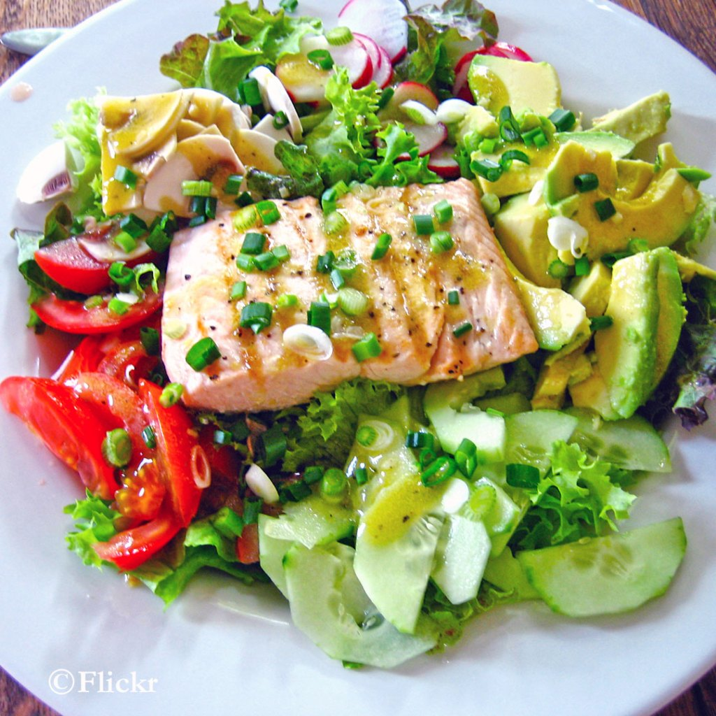 Avocado Salmon Salad - Keto fish meals