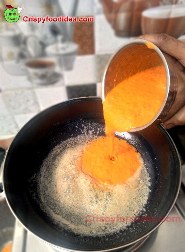 When the butter is melted pour the mixture or gravy in the pan.