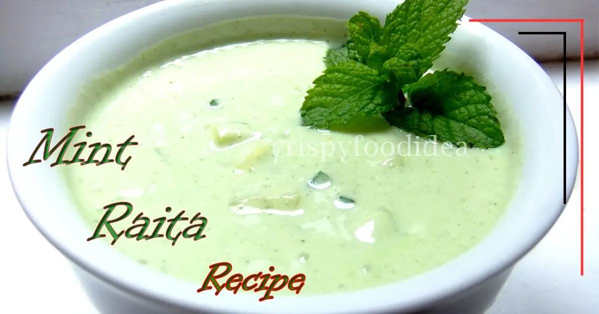 Mint Raita Recipe | Coolness Mint Raita