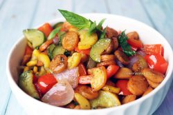 Skillet Sausage and Zucchini Stir Fry