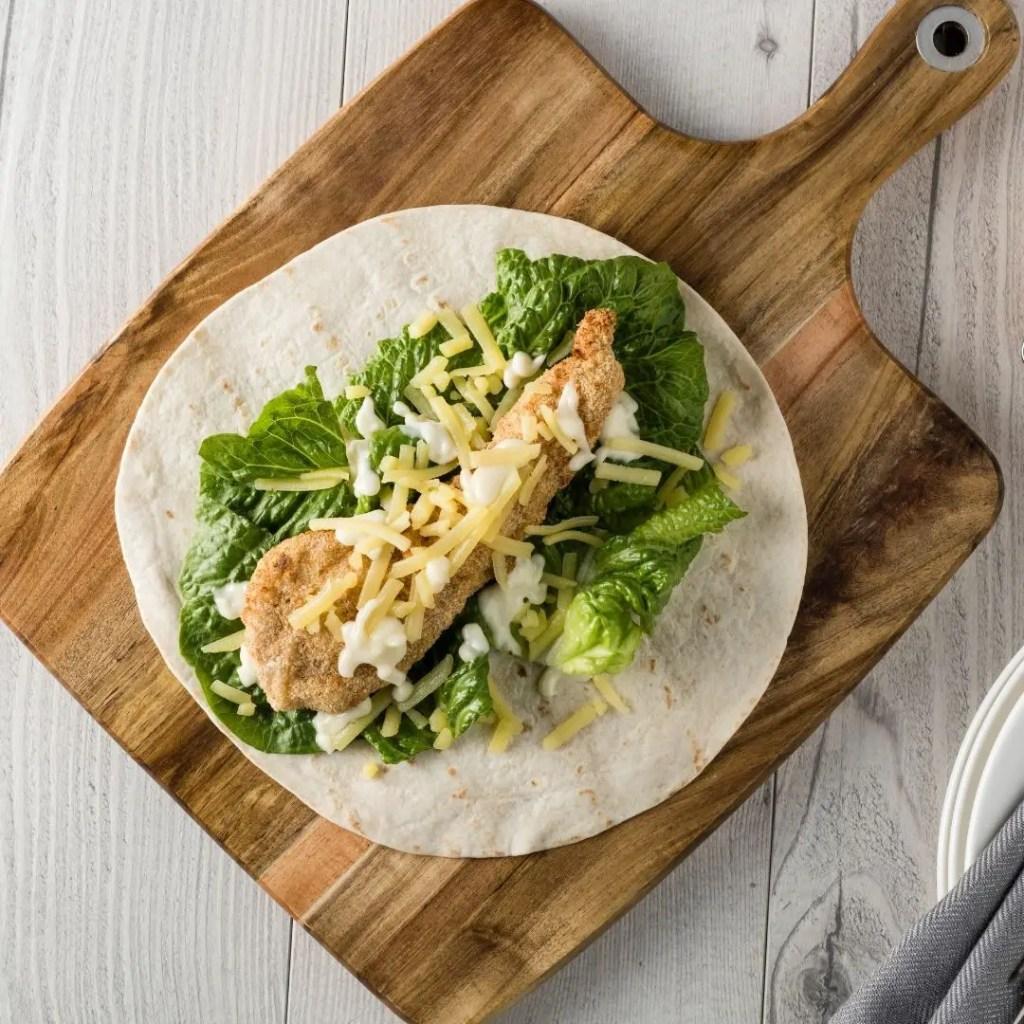 Crumb-free Wraps - healthy meals for outdoor activities