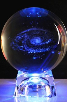 Socle Led Boule Cristal Galaxie
