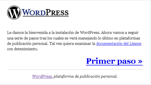 Primer Paso WordPress