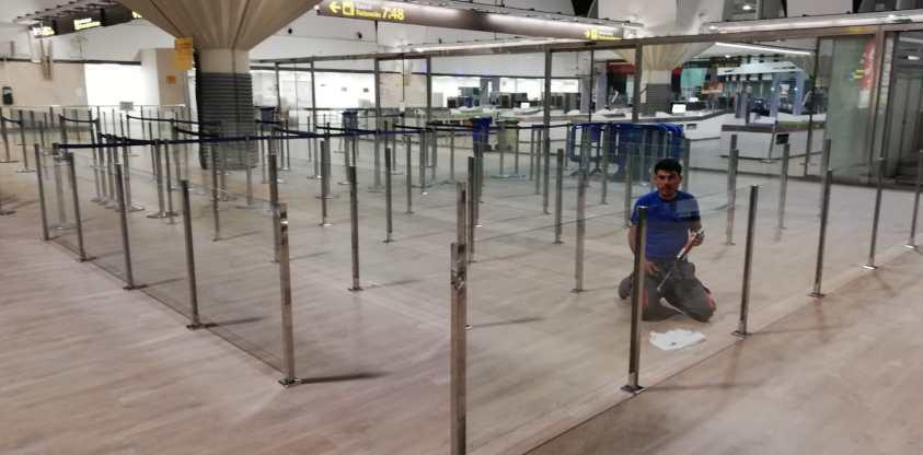 Acristalamiento en el aeropuerto de Sevilla 3