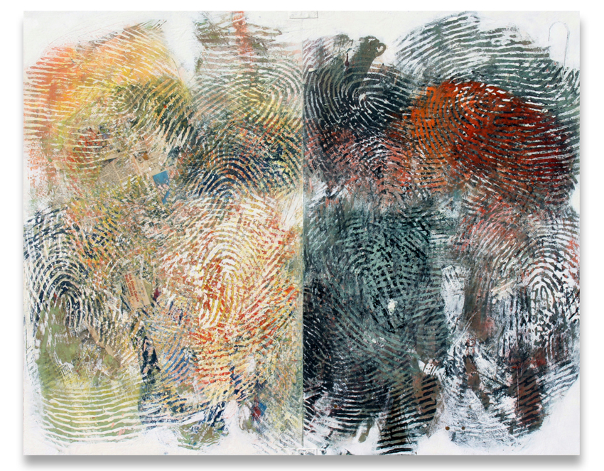 Randall Steeves, Corpse and Mirror, diptych, encaustic, modern art