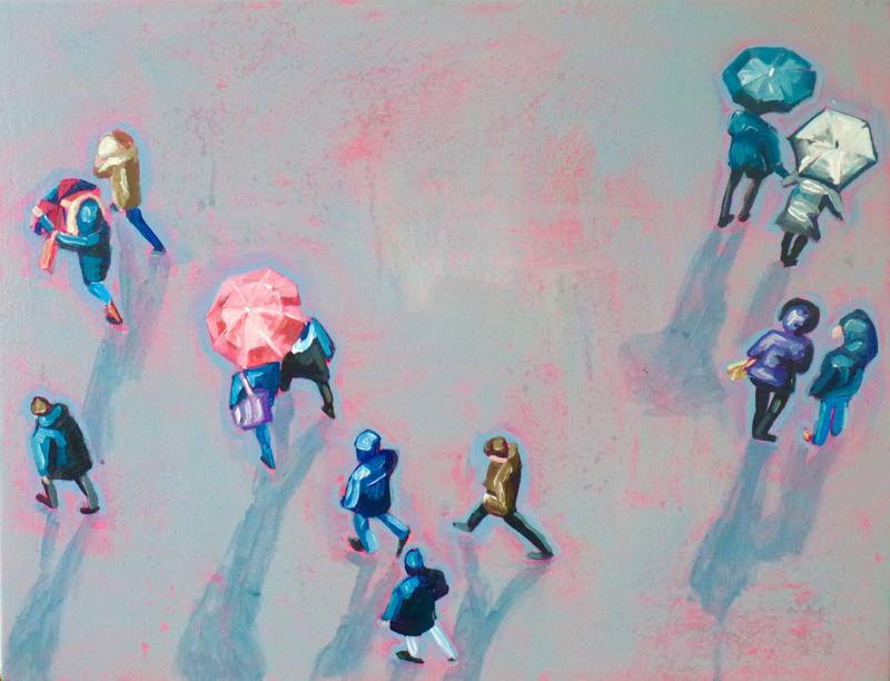 Sara Caracristi, figurative, painting, contemporary art, street scene, art consulting, art gallery, Vancouver, Elissa Cristall Gallery