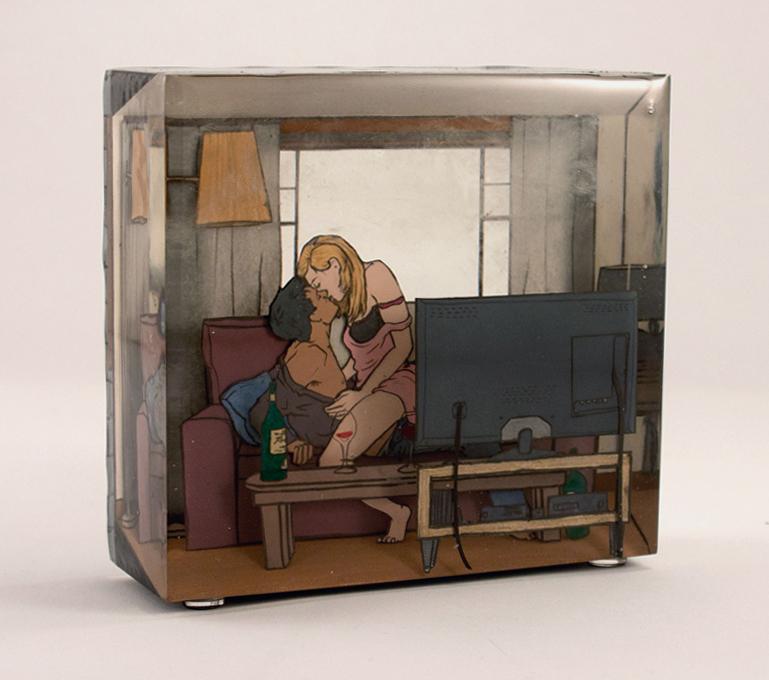 Jessica Korderas, Netflix, resin sculpture, contemporary art, Elissa Cristall Gallery