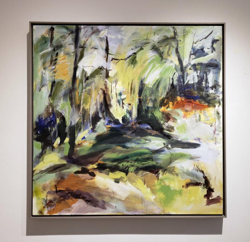 Lesley Finlayson, filter/ed #5, acrylic on canvas. landscape