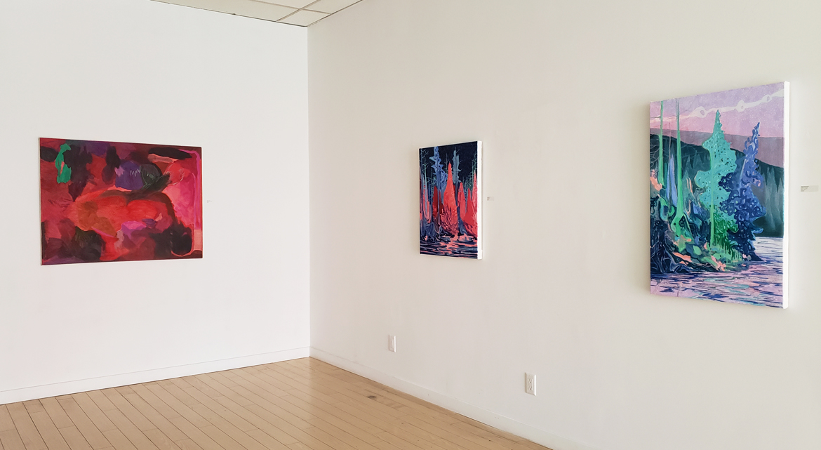 Material Elements, installation photo, Elissa Cristall Gallery