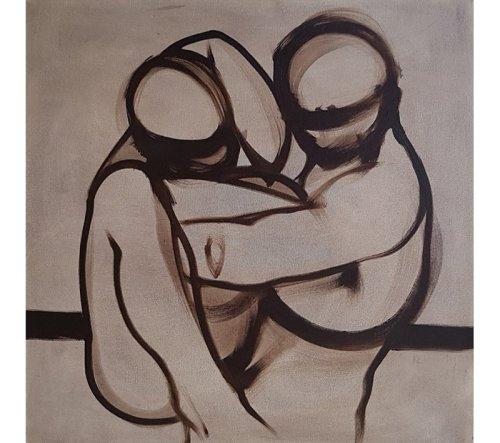 "Figurative, oil on canvas, 24"" x 24"""