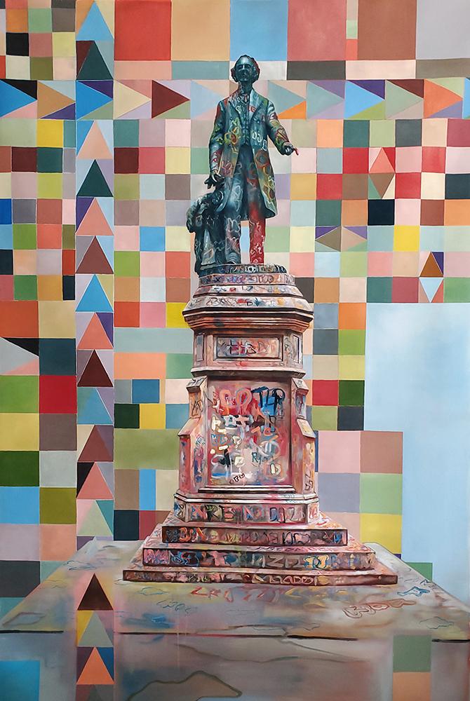 Jeroen-Witvliet, Johnie, oil on canvas, 180x120cm