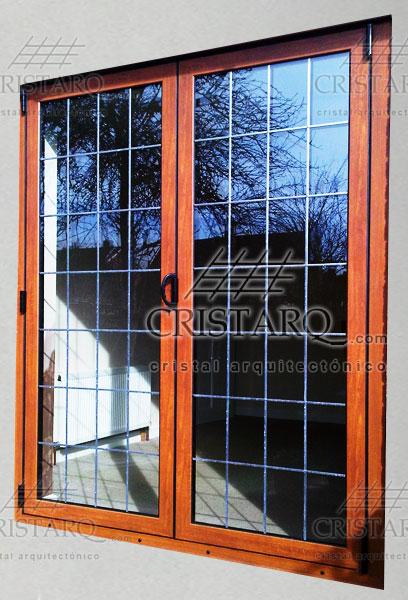 Cristarq  Galera de aluminio con acabado madera para