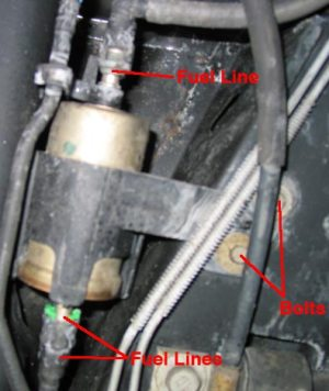 Saturn Sseries Fuel Filter Replacement