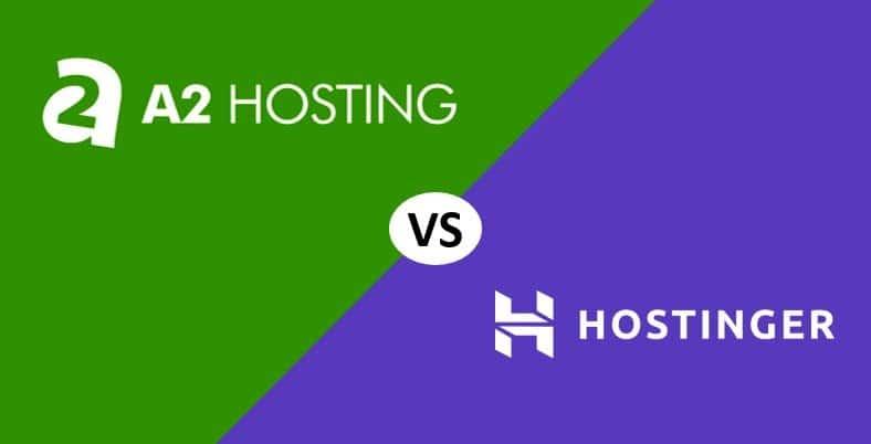 A2 Hosting vs Hostinger Comparación 2020: ¿Cuál elegir?