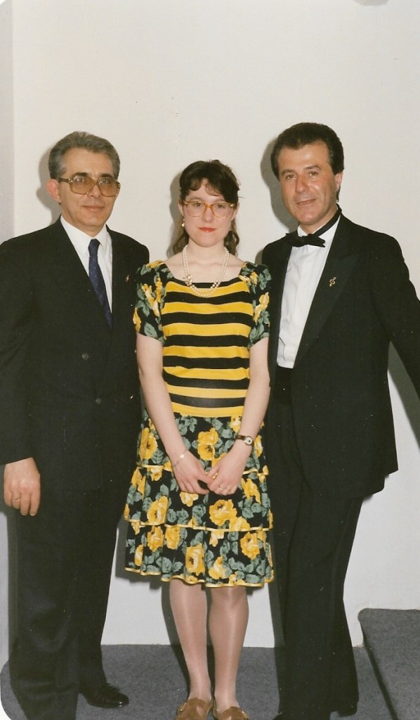 Con Max Renè Cosotti, Teatro Nuovo di Mirandola, 1991