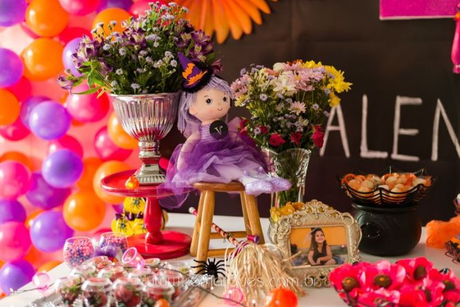 Valentina - Aniversário Infantil - 4 anos - Halloween - 009