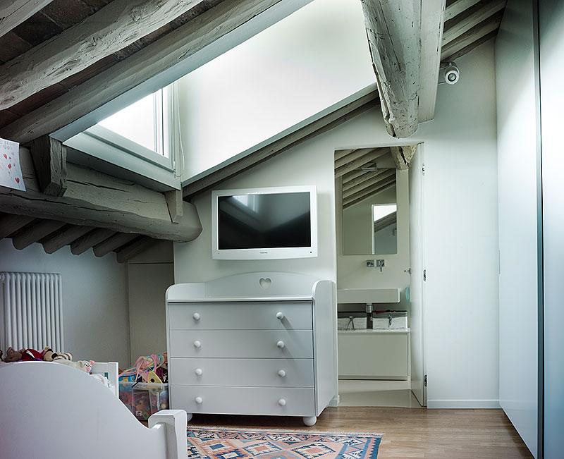 Interior design progettazione outdoor e disegno arredi in un atttico