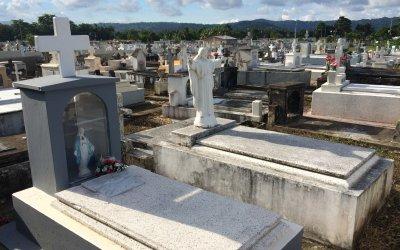 Ocurrió en un cementerio