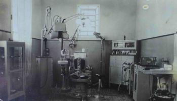 Odontologia em 1940 - Consultório do Dr. Alcides Moreira Jr., que exerceu a arte de cuidar dos sorrisos por mais de 50 anos