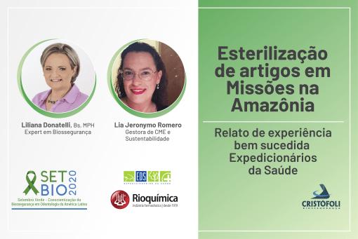 SETBIO 2020- Esterilização de artigos em Missões na Amazônia