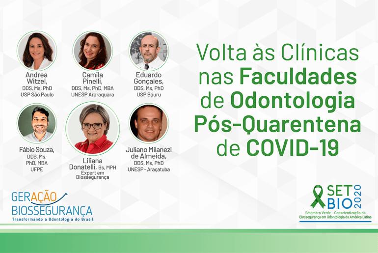 SETBIO -2020 COVID-19 Volta às Clinicas nas Faculdades de Odontologia