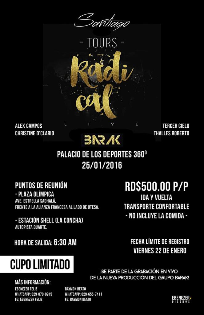 Tours Radical Live Santiago afiche