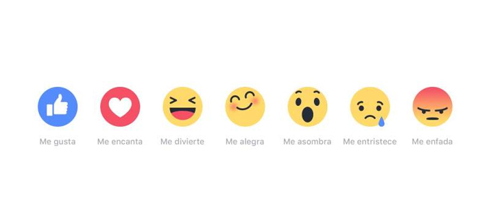"""Los nuevos botones de """"me gusta"""" en Facebook"""