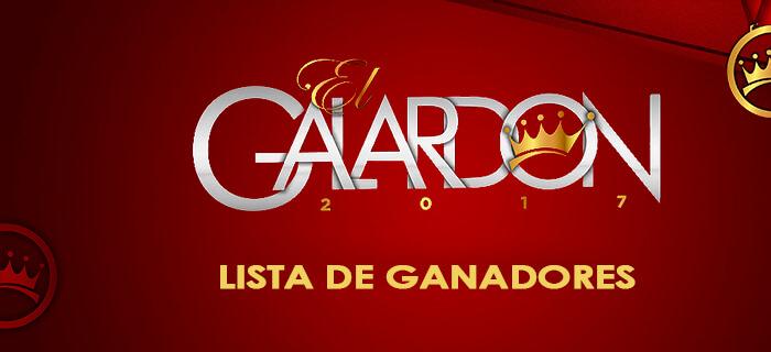Lista de ganadores de Premios El Galardón 2017