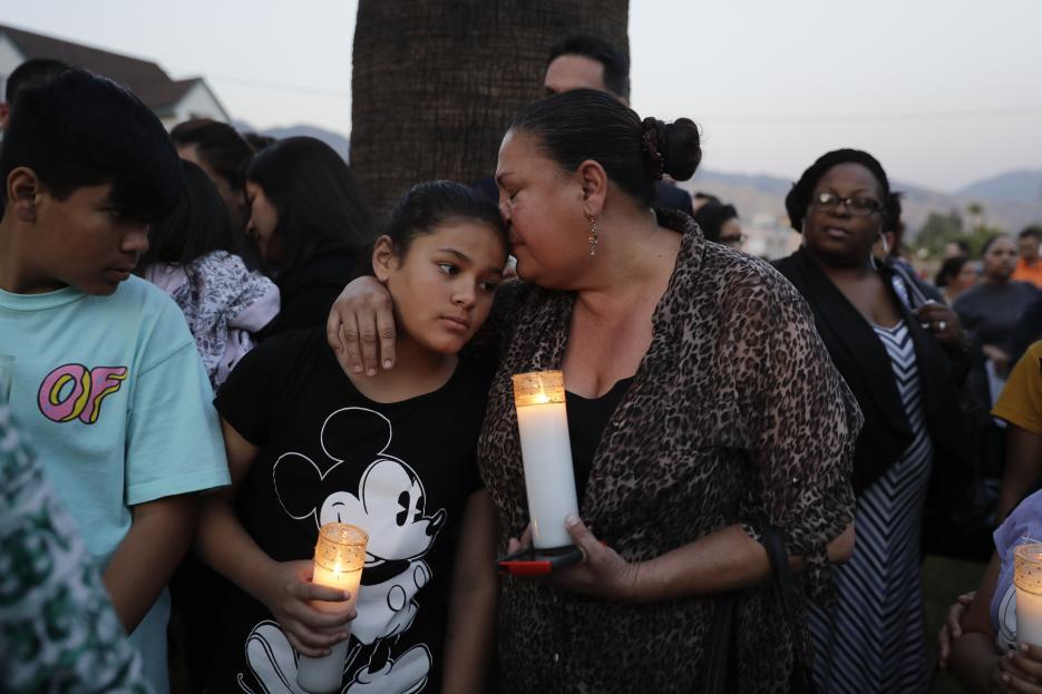2017. Primaria North Park en San Bernardino, California. Cedric Anderson, de 53 años, entró a la escuela donde su esposa era maestra y en el salón de clases la asesinó con una pistola. También mató a un estudiante de ocho años e hirió a otro antes de suicidarse. 10 de abril de 2017.